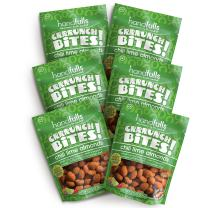 CrrrunchBites Chili Lime Almonds (6 Bags) | Crunchy Coated Whole Roasted Almonds | Boldly Seasoned Nuts | Gluten Free, Non-GMO, Vegan | Flavored Nut Snacks by Handfulls (3.75 oz Sharable Bags)
