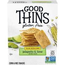 Good Thins Jalapeño & Lime Corn & Rice Snacks Gluten Free Crackers, 3.5 oz