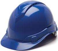 Pyramex Ridgeline Cap Style Hard Hat, Vented, 4-Point Ratchet Suspension, Blue