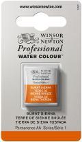 Winsor & Newton Professional Water Colour Paint, Half Pan, Burnt Sienna