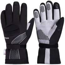 Balnna Mens Ski Gloves, Multi-Functional Snowboard Gloves with 3M Thinsulate, Touch Screen Waterproof Winter Gloves