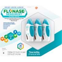 Flonase Sensimist 24hr Allergy Relief Nasal Spray, Gentle Mist, Scent-Free, 120 Sprays (120 Count, Pack of 3)