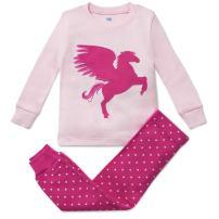 Bluenido Girls Pajamas Unicorn Pegasus Lips 2 Piece 100% Super Soft Cotton (12m-8y)