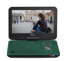 Impecca DVP1016 10.1 Inch Portable DVD Player, 6 Hour Rechargeable Battery, Swivel Screen, Teal
