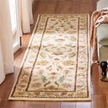 """Safavieh Bergama Collection BRG161B Handmade Ivory Premium Wool Runner (2'3"""" x 10')"""