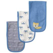 Gerber Baby Boys 3-Pack Terry Burp Cloth, Awesome Fox, One Size