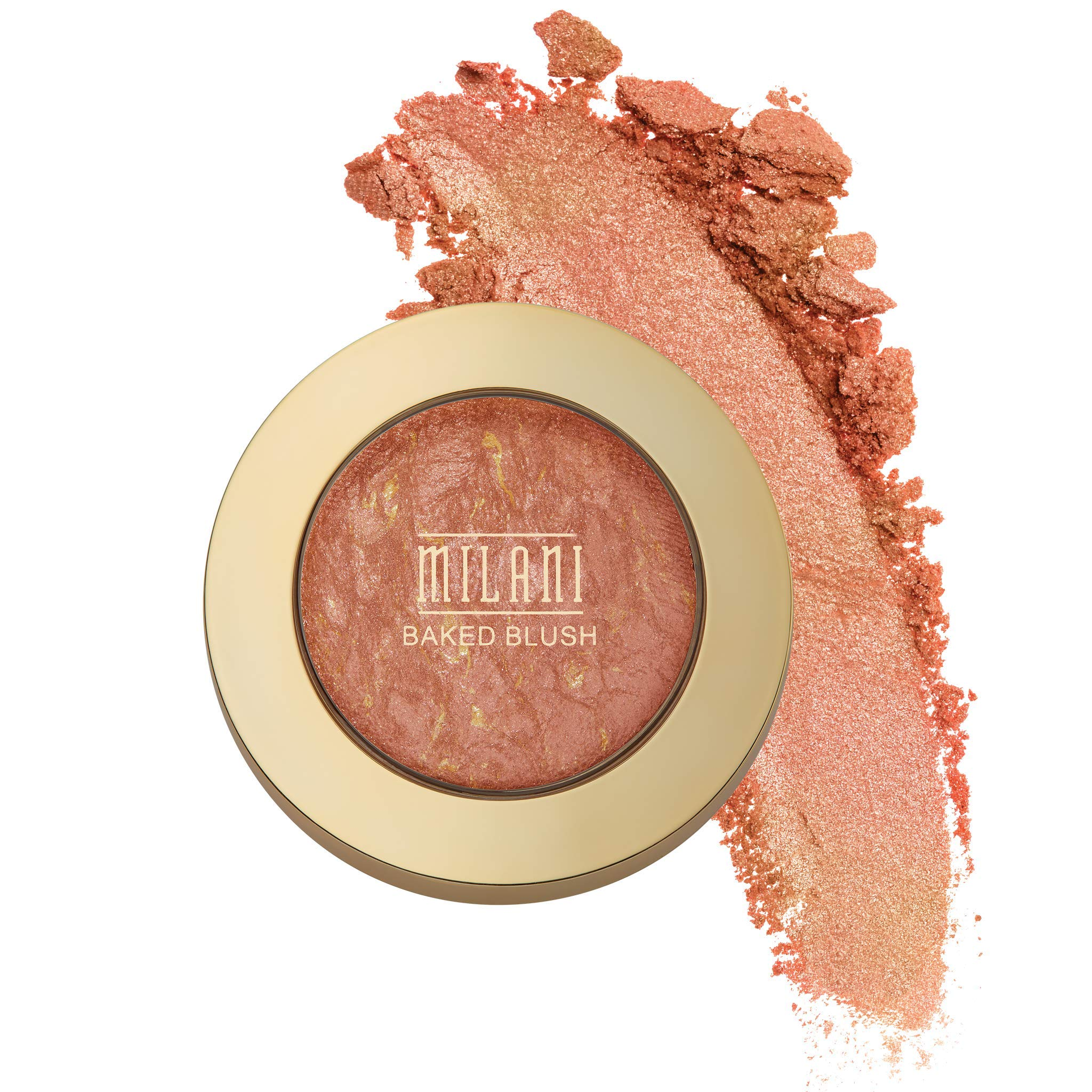 Milani Baked Blush - Rose D'Oro (0.12 Ounce) Cruelty-Free Powder Blush - Shape, Contour & Highlight Face for a Shimmery or Matte Finish