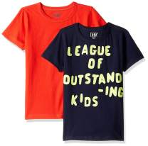 Amazon/ J. Crew Brand- LOOK by crewcuts Boys' 2-Pack Graphic/Solid Short Sleeve T-Shirt