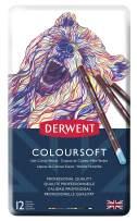 Derwent Colored Pencils, ColourSoft Pencils, Drawing, Art, Metal Tin, 12 Count (0701026)