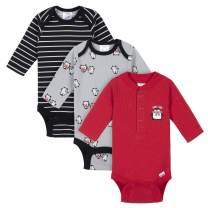 Gerber baby-boys 3-pack Long Sleeve Thermal Onesies Bodysuits