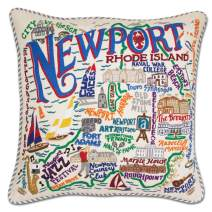 Catstudio Newport Embroidered Decorative Throw Pillow | Beautiful Award Winning Home Decor Artwork | Great for The Living, Family, Bed Rooms