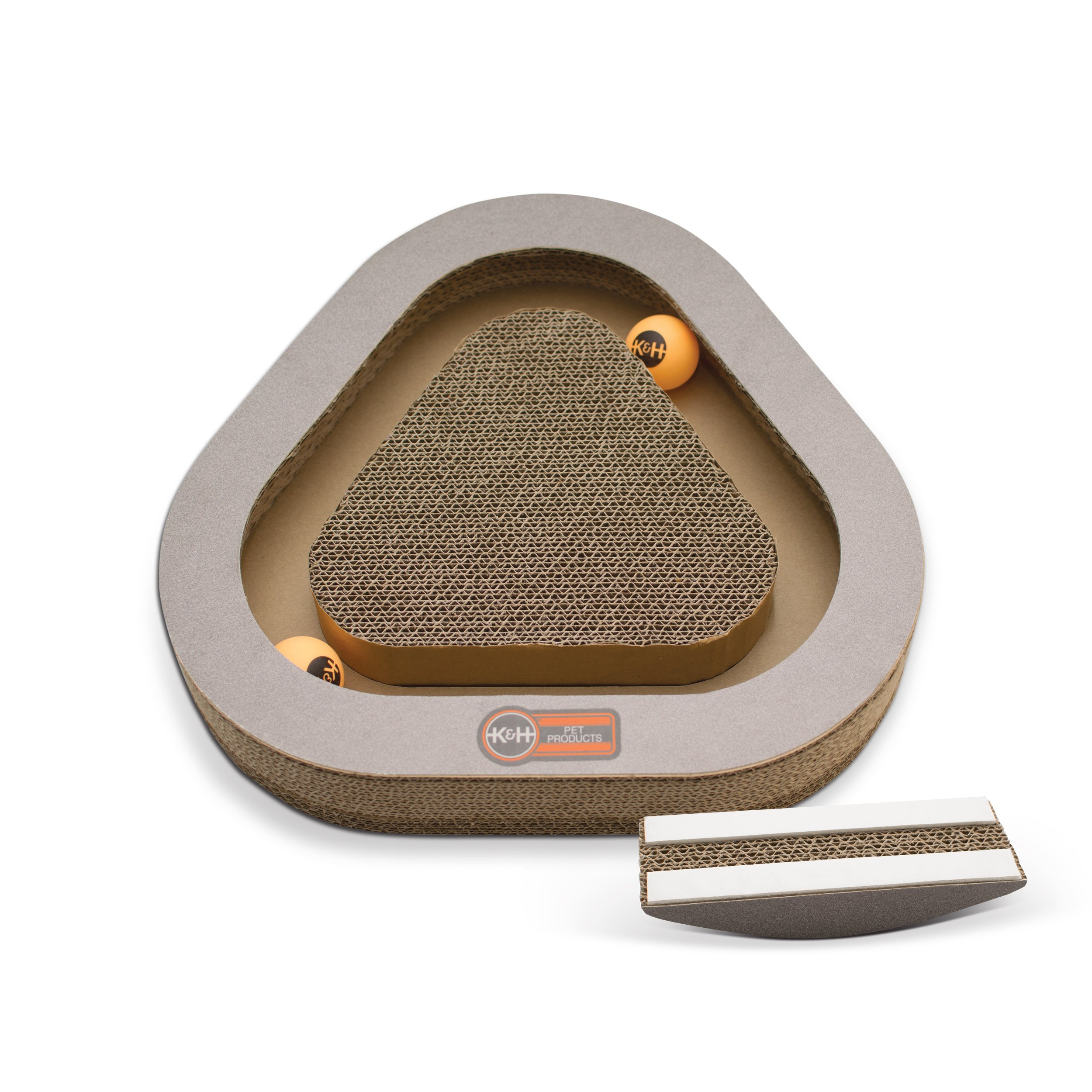 K&H PET Products Kitty Tippy Scratch n' Track Cardboard Cat Scratcher Interactive Toy