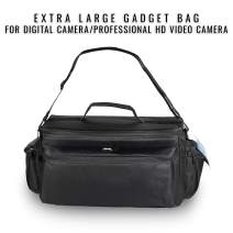 Ultimax's Extra Large, Water-Resistant Professional Gadget Bag Compatible with Camcorders and Accessories for Sony NEX-FS-100, FS-100U, FS-700, FS700UK, FS700R, EA50UH Camcorders, and More