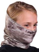 Aqua Design Children's Face Mask Neck Gaiter: Kids Reusable Bandana Tube: UPF 50+ UV Sun Dust Wind Protection