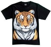 T-Shirt Unisex Adult/Kids 3D Glow in Dark Animal Glitter Short Sleeves Family Sizes