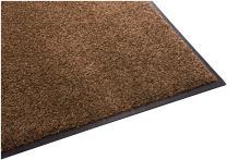 Guardian Platinum Series Indoor Wiper Floor Mat, Rubber with Nylon Carpet, 2'x10', Brown