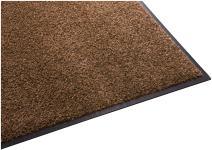 Guardian Platinum Series Indoor Wiper Floor Mat, Rubber with Nylon Carpet, 6'x14', Brown