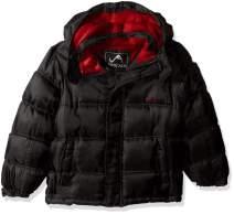 Vertical '9 Boys' Bubble Jacket with Storm Placket