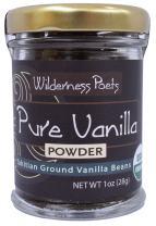 Wilderness Poets Pure Vanilla Powder - Organic Vanilla Bean Powder - Tahitian Variety, 1 Ounce (28 Grams)
