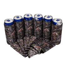QualityPerfection 12 Camo Forest Slim Can Cooler Sleeve - Beer Blank Skinny 12 oz Neoprene Coolie - Perfect For Red Bull,Michelob Ultra,Truly,White Claw -Gift 4 Her,Him,Business (12, Camo Forest)
