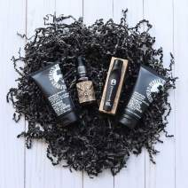 Rebels Refinery Face Lift Bundle – Includes Advanced Clear Facial Scrub, Anti-Wrinkle Moisturizer, Moisturizing Beard and Pre-Shave Oil and Rehab Roller Under Eye Moisturizer – For All Skin Types