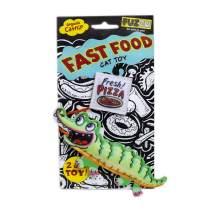 FUZZU Fast Food Cat Toy with U.S. Grown Certified Organic Catnip – Gator and Pizza