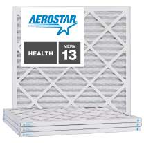 Aerostar 21 1/2x21 1/2x1 MERV 13, Pleated Air Filter, 21 1/2 x 21 1/2 x 1, Box of 4, Made in The USA