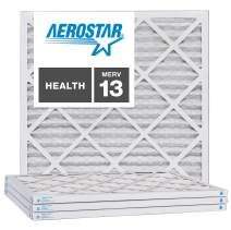 Aerostar 21 1/2x21 1/2x1 MERV 13, Pleated Air Filter, 21 1/2 x 21 1/2 x 1, Box of 4, Made in The USA