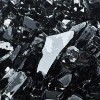 Midnight Black - Fire Glass for Indoor and Outdoor Fire Pits or Fireplaces   10 Pounds   1/4 Inch