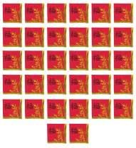 "Beistle 53532 Paper Asian Lunch Napkins 32 Piece Chinese New Year Tableware, 6.5"" x 6.5"", Red/Gold/Black"