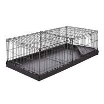 AmazonBasics Indoor-Outdoor Small Pet Habitat Cage with Canvas Bottom