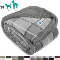 PetAmi Dog Blanket, Sherpa Dog Blanket | Plush, Reversible, Warm Pet Blanket for Dog Bed, Couch, Sofa, Car