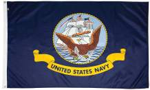 FlagSource U.S. Navy Nylon Military Flag, Made in The USA, 5x8'