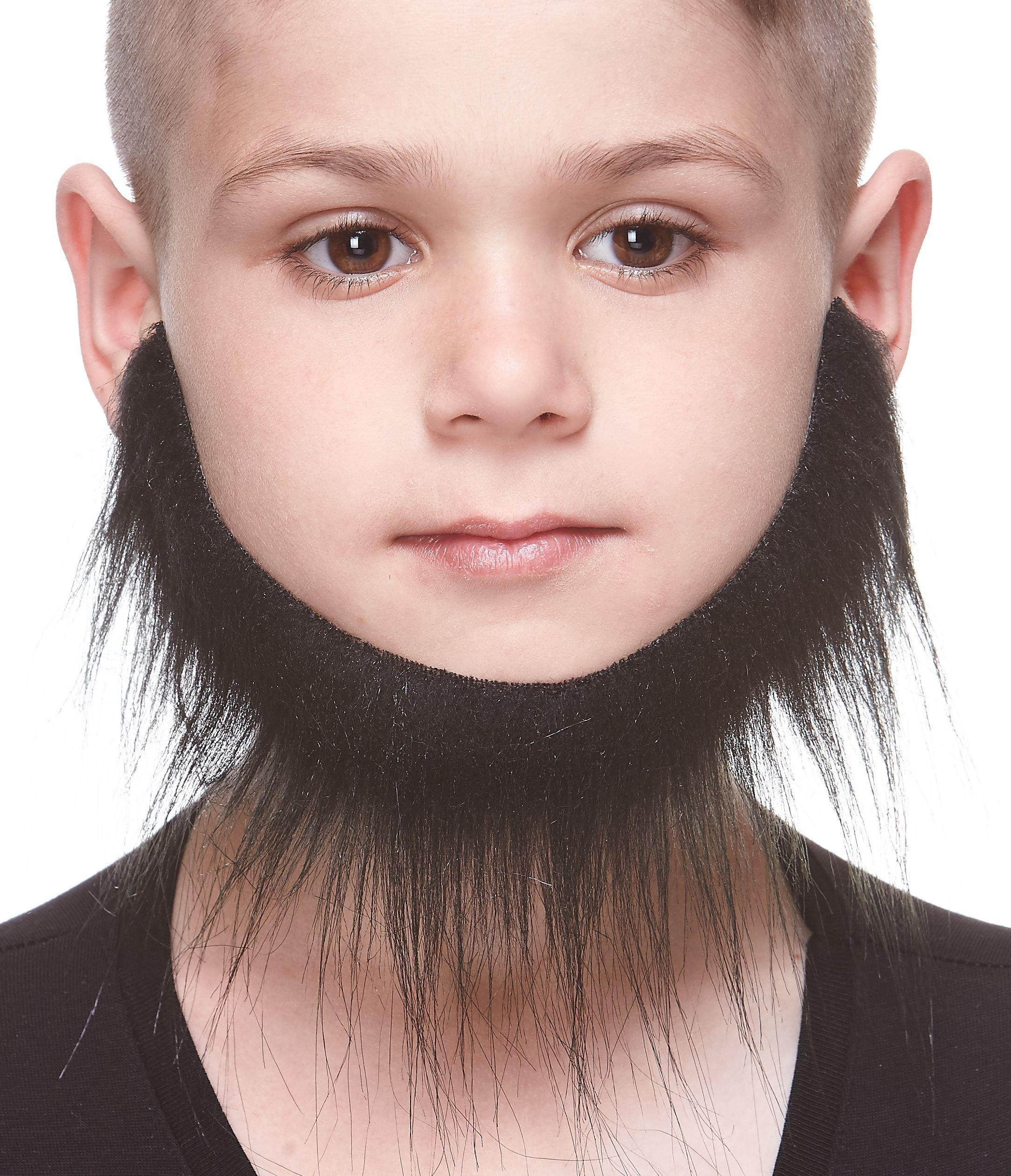 Mustaches Fake Beard, Self Adhesive, Novelty, Small Morman False Facial Hair, Costume Accessory for Kids