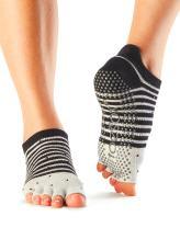 toesox Women's Low Rise Half Toe w/Grip