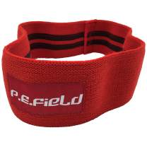 P.E.Field Resistance Hip Bands with Non-Slip Design, for Hip and Glute Activation and Exercise Form Improvement, Carrying Bag Included