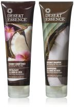 Desert Essence Coconut Shampoo & Conditioner Bundle - 8 Fl Ounce - Nourishing For Dry Hair - Delightful Scent - Refreshes Skin - Coconut Oil
