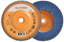Allsteel 06W458 Flap Disc [Pack of 10] - 80 Grit Blending Disc for 6 in. Angle Grinders Spin-On