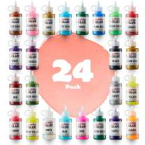 Glitter Glue (Value Pack - 24 Colors) | Washable Glittery Art Glue | Essential Slime Supplies for Slime Making and Arts & Crafts Projects | Non-Toxic & Safe for Kids