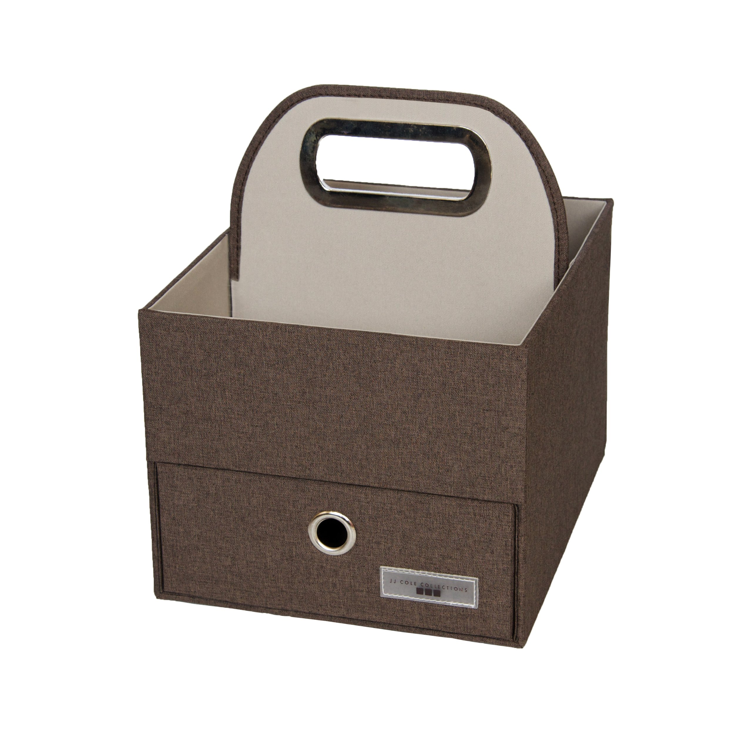 JJ Cole Heather Diaper and Wipes Caddy, Cocoa