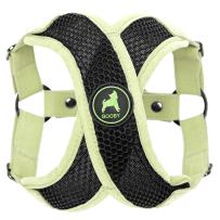 Gooby - Active X Step-in Harness, Choke Free Small Dog Harness with Synthetic Lambskin Soft Strap