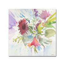 Bouquet Impression work by Sheila Golden, 18 by 18-Inch Canvas Wall Art