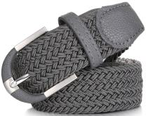 Mio Marino Elastic Belt for Men and Women - Woven Stretch Belt - Gift Box