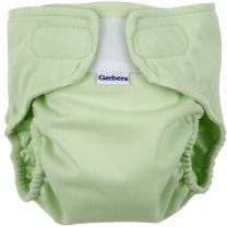Gerber All-in-One Reusable Diaper with Insert Starter Set, Sage, Small