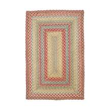 """Azalea Premium Jute Braided Area Rug by Homespice, 20"""" x 30"""" Rectangular Red - Tan - Beige - Blue, Reversible, Natural Jute Yarn Rustic, Country, Primitive, Farmhouse Style - 30 Day Risk Free Purchase"""