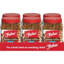 Fisher Snack Peanuts, Butter Toffee, 42oz, (Pack of 6), No artificial colors or flavors