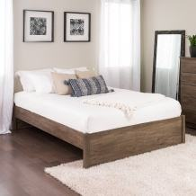 Queen Select 4-Post Platform Bed, Drifted Gray