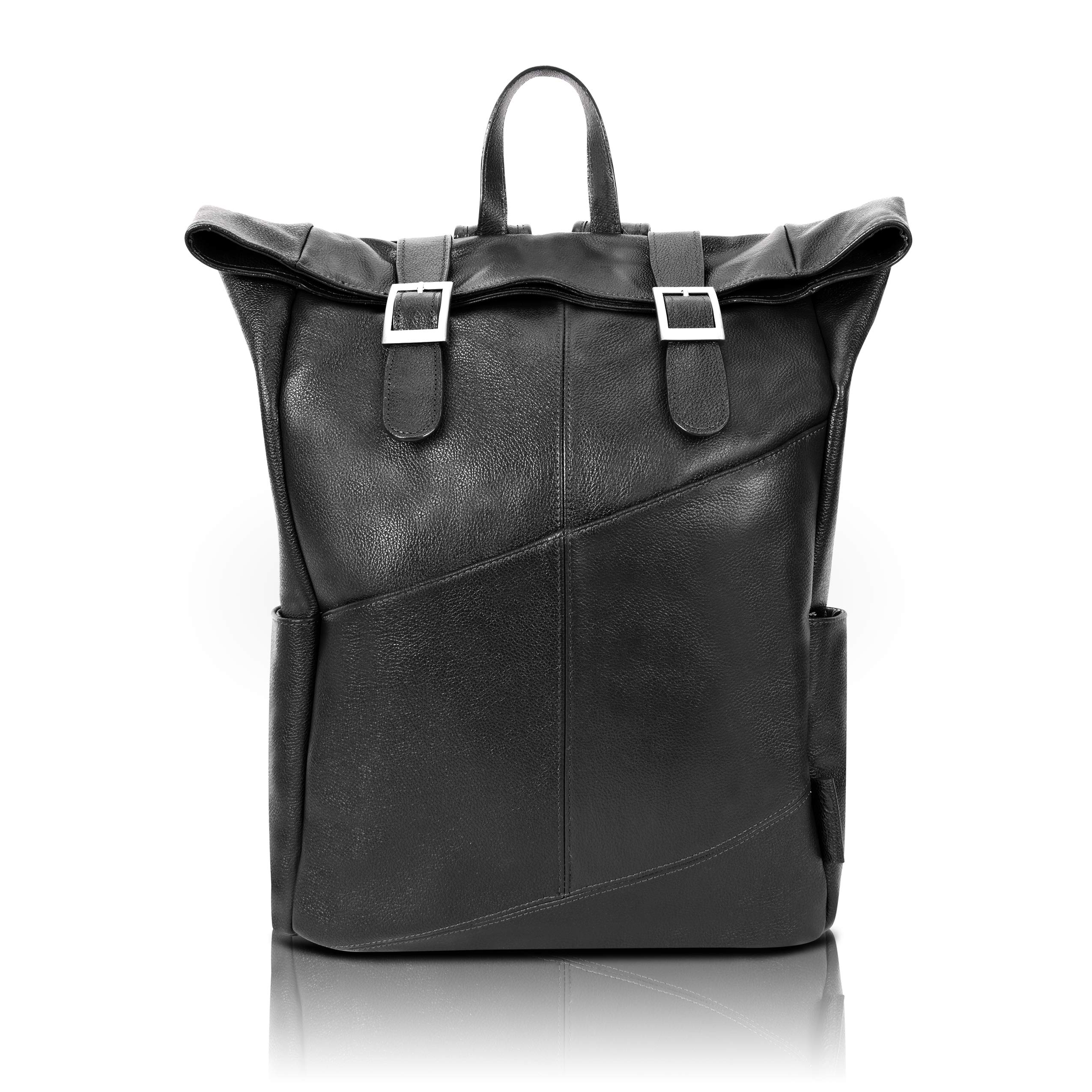 """McKlein S Series Kennedy 17"""" Leather Dual Access Laptop Backpack"""