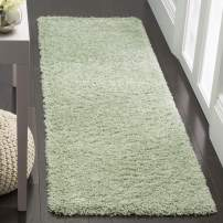 "Safavieh Laguna Shag Collection Runner, 2' 3"" x 6', Light Sage"