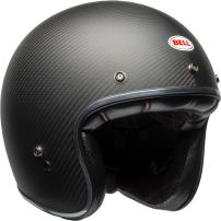 Bell Custom 500 Carbon Open-Face Motorcycle Helmet (Matte Black Carbon, Large)